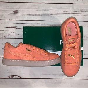 Suede girls adidas sneakers